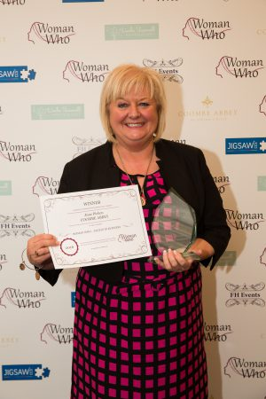 Congratulations June Picken, Coombe Abbey, Winner of Woman Who…Excels in Business 2016