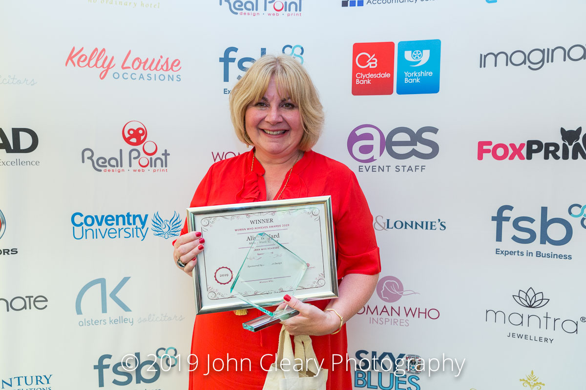 FRIDAY FEATURE:  Alison Ward, Alison Ward Training, Woman Who Achieves Award Winner 2019
