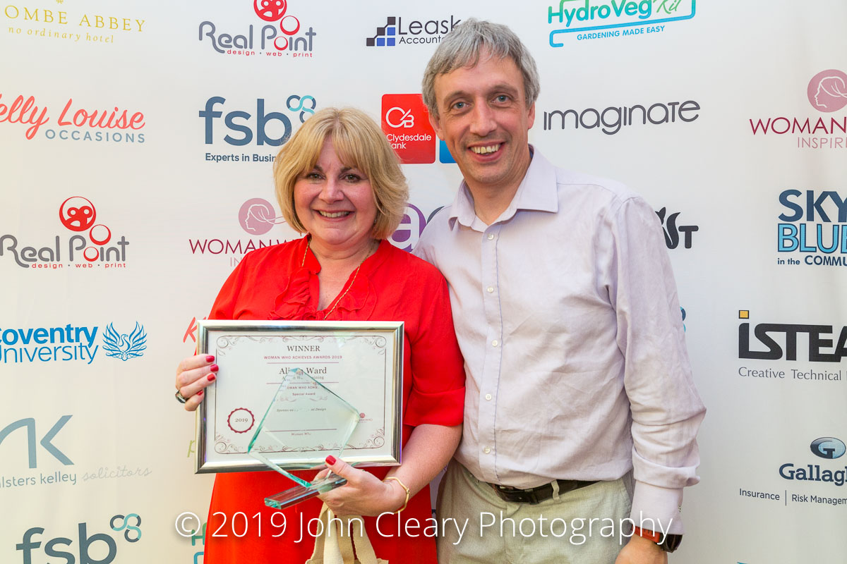 Congratulations Alison Ward, Alison Ward Training, Winner of a Woman Who Achieves Special Award Sponsored by Realpoint Design