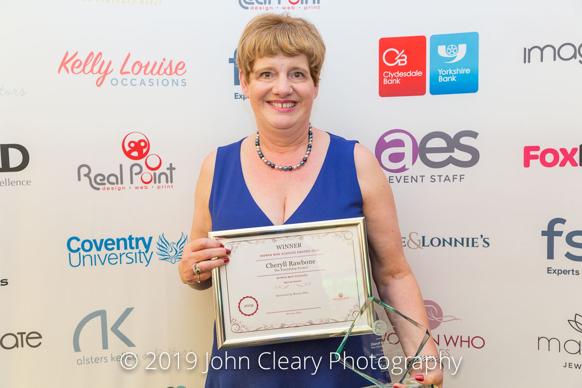 Congratulations Cheryll Rawbone, The Friendship Project, Winner of a Woman Who Achieves Special Award Sponsored by Woman Who