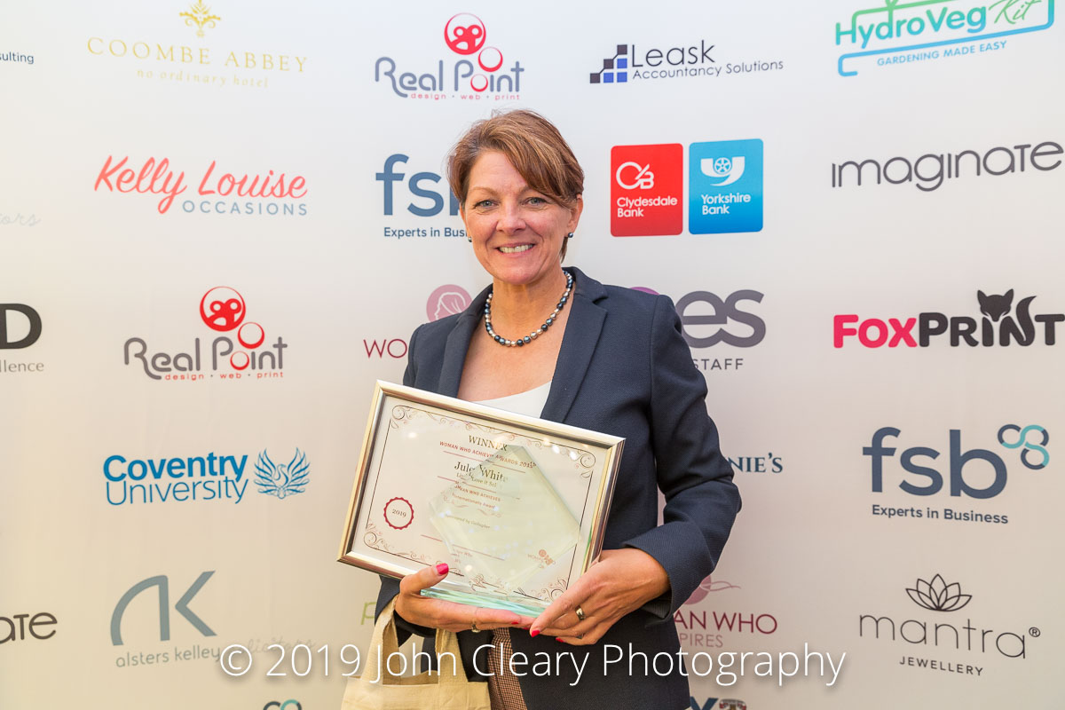 Congratulations Jules White, Live it Love it Sell it, Winner of the Woman Who Achieves Internationally Award 2019 Sponsored by Gallagher