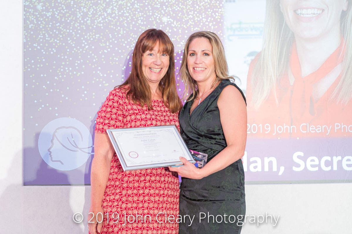 Congratulations Julie Colan, Secret Whispers, on your Commendation in the Woman Who Achieves Internationally Category Sponsored by Gallagher