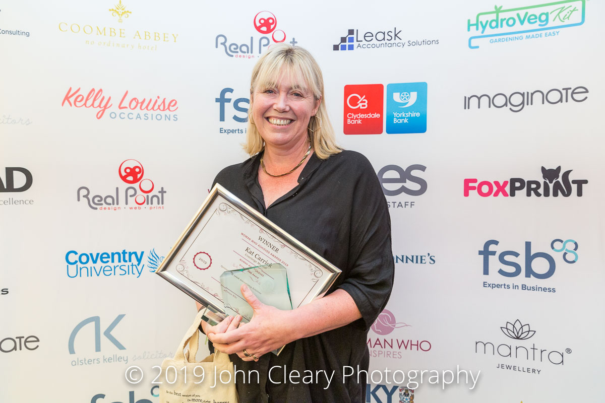 Congratulations Kat Carrick, Concierge Medical, Winner of the Woman Who Achieves Judges Recognition Award 2019 Sponsored by Woman Who