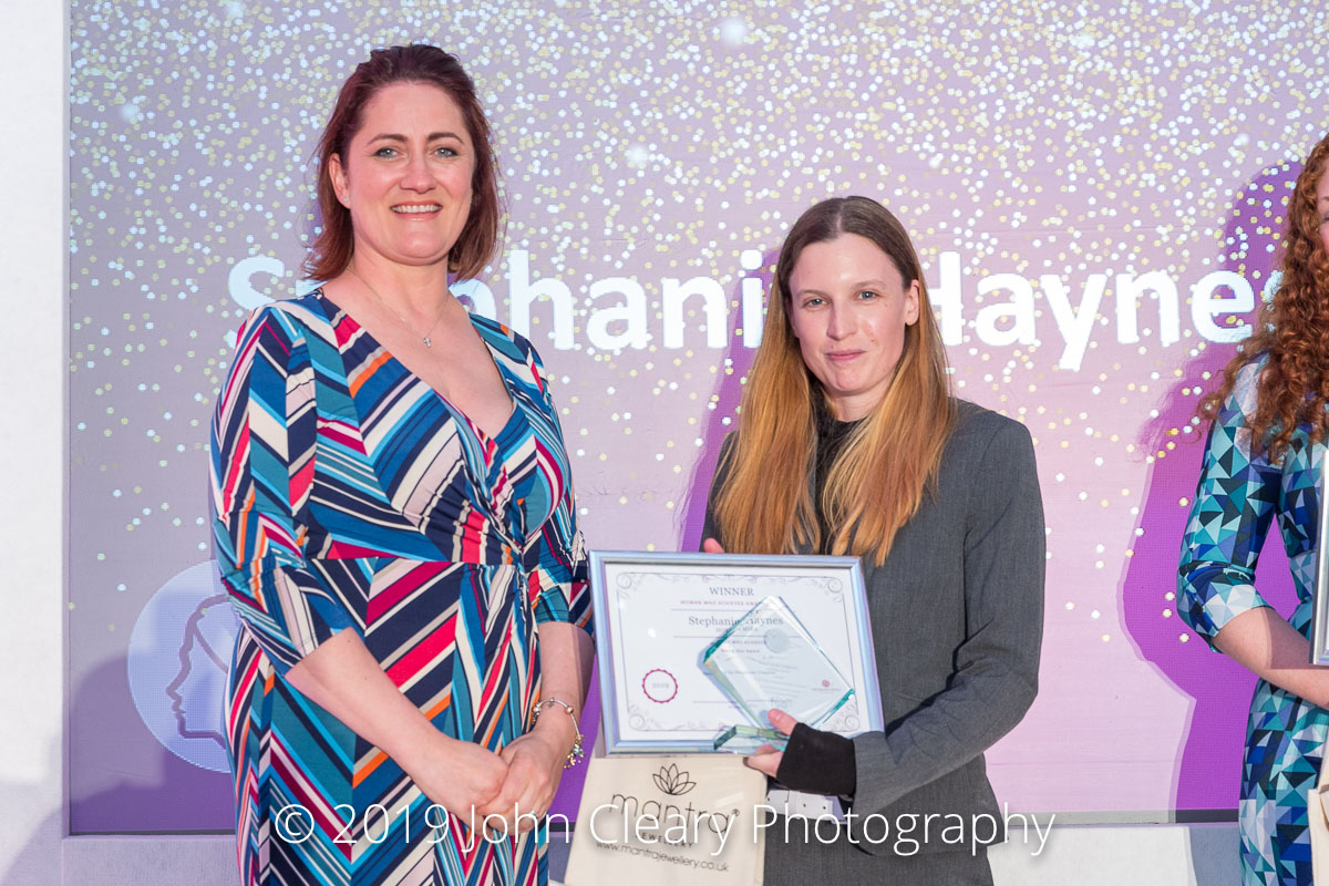 Congratulations Stephanie Haynes, HORIBA MIRA, Winner of a Woman Who Achieves Rising Star Award 2019 Sponsored by Coventry University